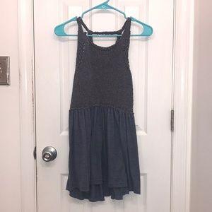 Blue-Grey Knit Top